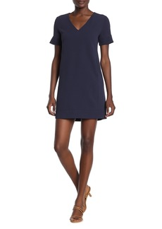 Theory V-Neck Banded Shift Dress
