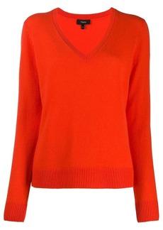 Theory V-neck fine knit jumper