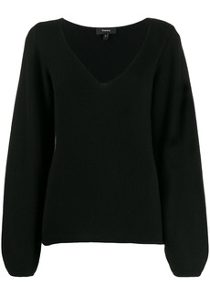 Theory V-neck long sleeve knitted top