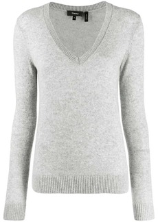 Theory v-neck ribbed jumper