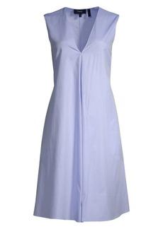 Theory V-Neck Sleeveless A-Line Dress
