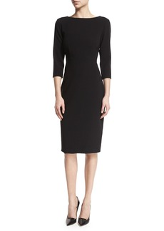 Theory Varetta Admiral Crepe Sheath Dress  Black