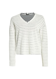 Theory Veil Striped Sweater