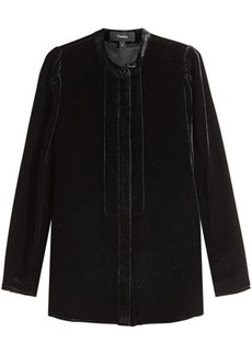 Theory Velvet Blouse