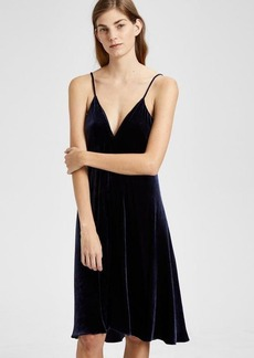 Theory Velvet Draped Dress