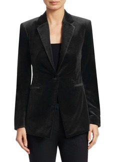 Theory Velvet One-Button Blazer