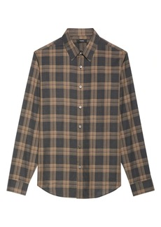 Theory Venlo Check Cotton Sport Shirt