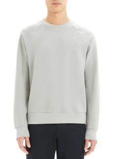 Theory Otto Regular Fit Crewneck Pinstripe Sweatshirt