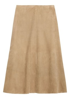 Theory Volume Suede A-Line Skirt