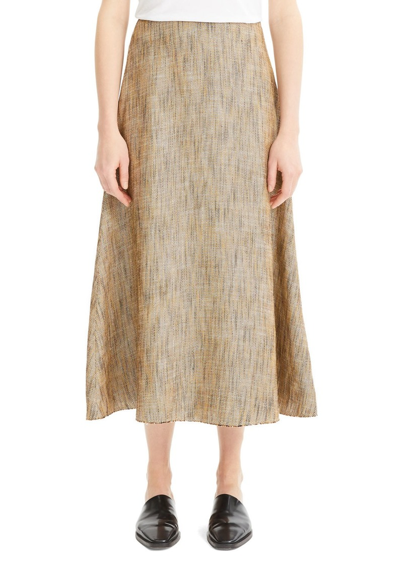 Theory Volume Viscose-Linen Midi Skirt