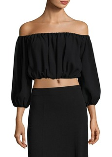 Theory Waleska Rosina Off-The-Shoulder Crepe Top