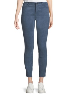 Theory Washable Stretch-Suede Five-Pocket Cropped Pants