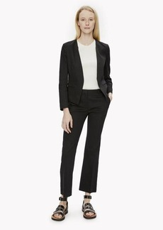 Theory Washed Stretch Linen Slim Crop Pant