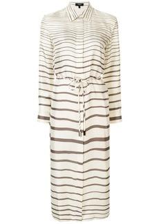 Theory belted striped shirt dress