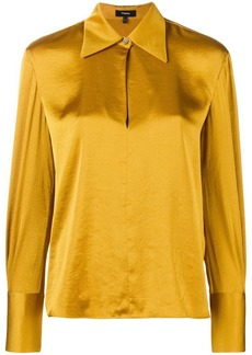 Theory wide collar blouse