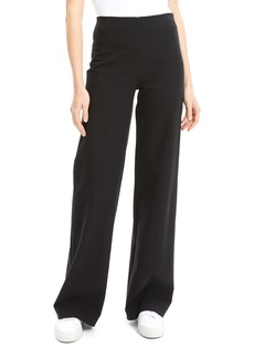 Theory Wide-Leg Cotton Ponte Pants