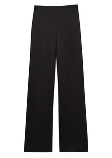 Theory Crepe Satin Clean Wide Leg Pants