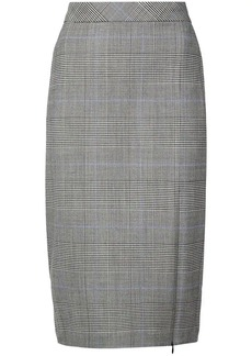 Theory windowpane check skirt