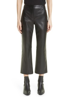 Women's Theory Bedford Faux Leather Kick Flare Pants