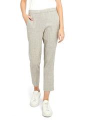 Women's Theory Treeca Pull-On Linen Blend Crop Trousers