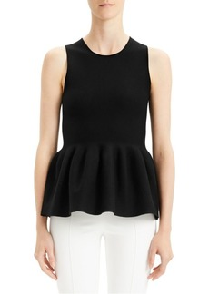 Theory Wool & Silk Peplum Shell
