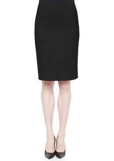 Theory Wool-Crepe Pencil Skirt