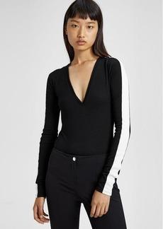 Wool Deep V Bodysuit