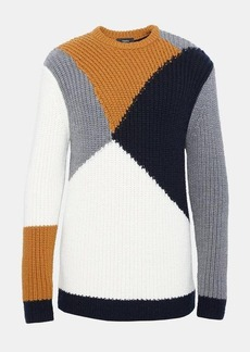 Theory Wool Graphic Intarsia Sweater