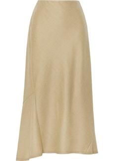 Theory Wool Midi Skirt