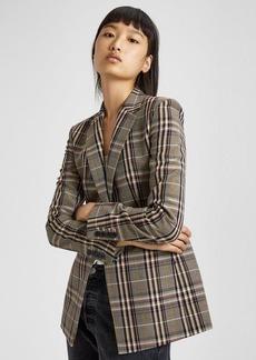 Theory Wool Plaid Power Jacket