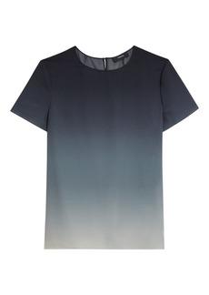 Theory Woven Ombré Silk T-Shirt