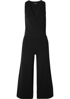 Theory Wrap-effect Stretch-knit Jumpsuit
