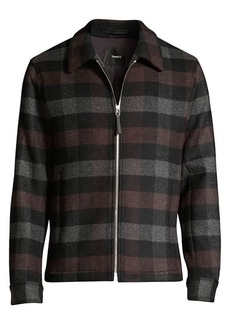 Theory Wyatt Mosaic Plaid Zip Jacket