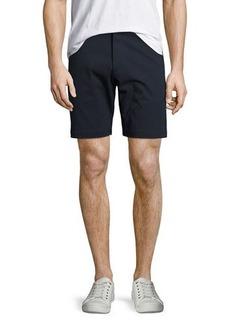 Theory Zaine Witten Stretch-Cotton Shorts