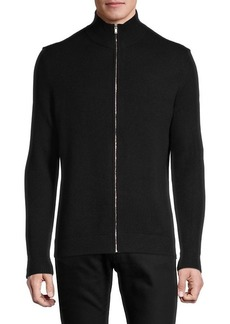 Theory Zip-Front Cashmere Cardigan