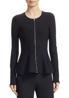 Theory Zip-Up Peplum Jacket