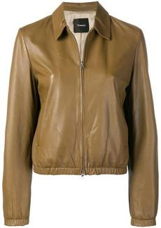 Theory zipped leather jacket