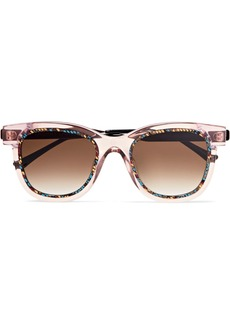 Thierry Lasry Savvvy Cat-eye Printed Acetate And Silver-tone Sunglasses