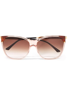 Thierry Lasry Jeopardy cat-eye acetate and gold-tone sunglasses