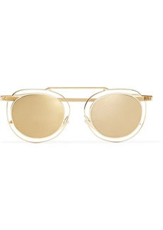 Thierry Lasry Potentially cat-eye gold-tone mirrored sunglasses