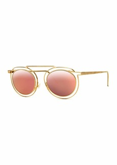 Thierry Lasry Potentially Cutout Round Sunglasses  Pink