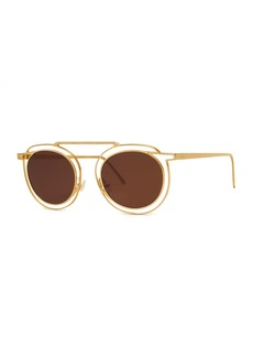 Thierry Lasry Potentially Cutout Round Sunglasses  Yellow