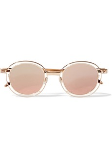 Thierry Lasry Probably round-frame gold-tone sunglasses