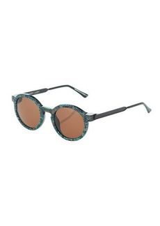Thierry Lasry Sobriety VO9 Plastic/Metal Floral Round Sunglasses