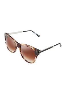 Thierry Lasry Strippy V376 Square Plastic/Metal Sunglasses