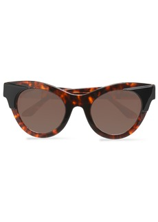 Thierry Lasry Woman Cat-eye Acetate And Metal Sunglasses Brown
