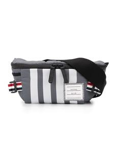 Thom Browne 4-Bar tricolour webbing ripstop belt bag