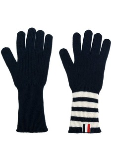 Thom Browne 4-bar Cashmere Gloves