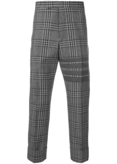 Thom Browne 4-bar checkered trousers