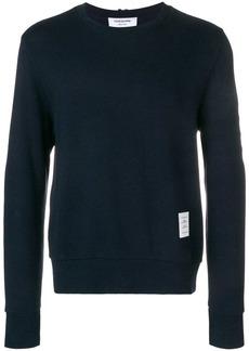 Thom Browne 4-Bar Honeycomb Piqué Sweatshirt